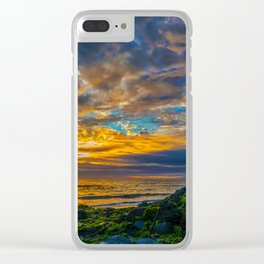 Sunset Sky Over Laguna Beach Clear iPhone Case