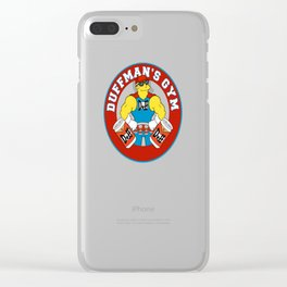 Duffman's Gym Clear iPhone Case