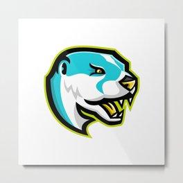 North American River Otter Mascot Metal Print