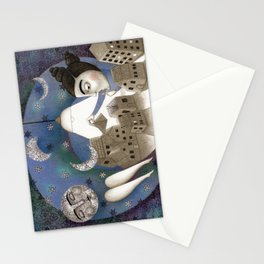 Go to Sleep, Says the Night Stationery Cards