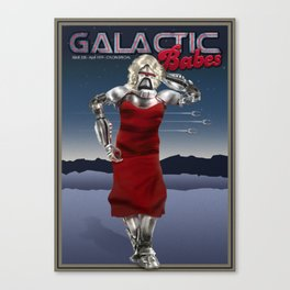 Galactic Cover Girl Canvas Print