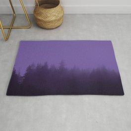 Licorice Forest with Ultra_Violet Fog, Alaska Rug