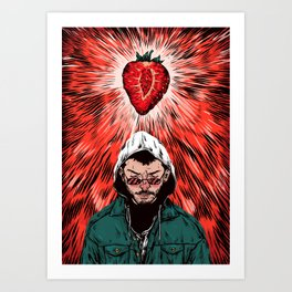 Unrelatable -Strawberry Rays Of Nothing Art Print