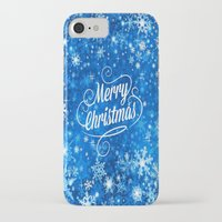 merry christmas iPhone & iPod Cases featuring Merry Christmas  by Judy Palkimas