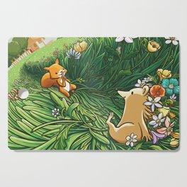 Roll on Flowers Cutting Board