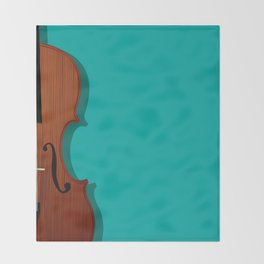 Violin Throw Blanket