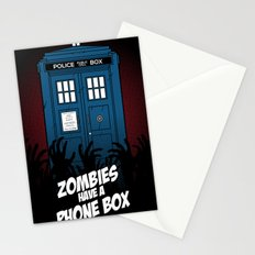 Zombies Have A Phone Box Stationery Cards