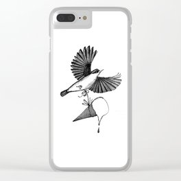 nuthatch delivers an ice cream cone Clear iPhone Case