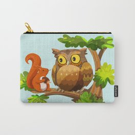 The Owl and The Squirrel Carry-All Pouch