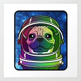Cosmo the AstroPug Art Print