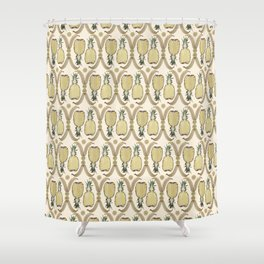 Golden pattern Shower Curtain