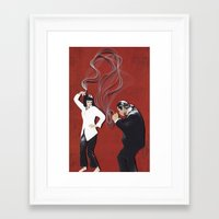 pulp fiction Framed Art Prints featuring Pulp Fiction by yakawonis