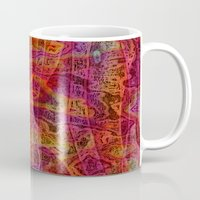 bands Mugs featuring Bands II by RingWaveArt