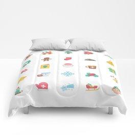 CUTE CHRISTMAS HOLIDAYS WINTER PATTERN Comforters