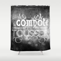 lettering Shower Curtains featuring Lettering I by Merwizaur