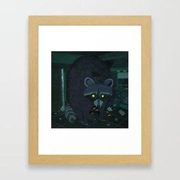 Radioactive Raccoon Framed Art Print