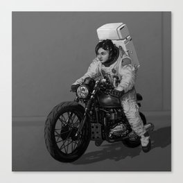 Mooncycle Canvas Print
