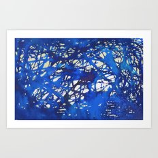 Tangled in Blue Art Print