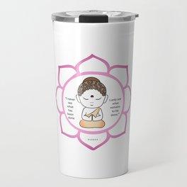 Cute little Buddha in a lotus flower Travel Mug