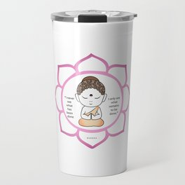 Cute little Buddha in a lotus flower Travel Mug