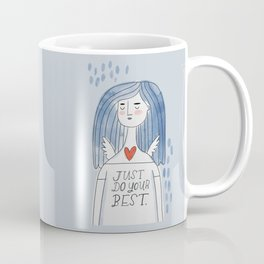 The Grumpy Angels: Just Do Your Best Coffee Mug