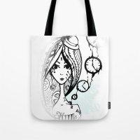 watch Tote Bags featuring watch by DanilaTrubarova