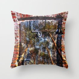 Door into the Forest  Throw Pillow