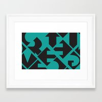 word Framed Art Prints featuring Word by Jenny Ohlsson