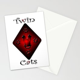 Twin Cats. Gemini star sign. Stationery Cards