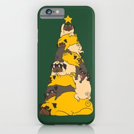 Christmas Tree Pugs iPhone Case