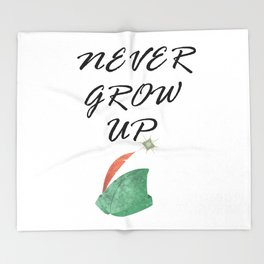 Never Grow Up - I Throw Blanket