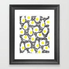 Egg Vibes Only Framed Art Print