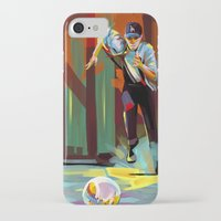 dodgers iPhone & iPod Cases featuring The Showdown by Travis Clarke