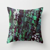 acid Throw Pillows featuring Acid by MonsterBrown