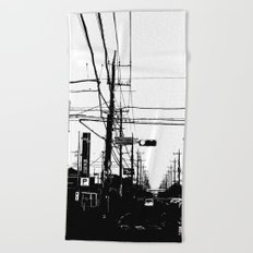 Japan Street Beach Towel