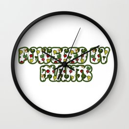 Powered by plants Wall Clock