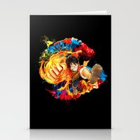 luffy Stationery Cards featuring Luffy Attack by feimyconcepts05