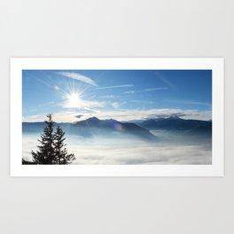Panoramic view over the Adige Valley near Merano Art Print