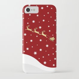 Red Christmas Santa Claus iPhone Case