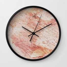 Coral swirls  Wall Clock