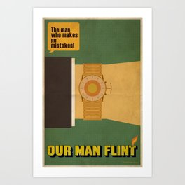 Our Man Flint Art Print
