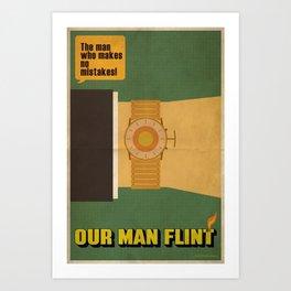 Our Man Flint Art Print