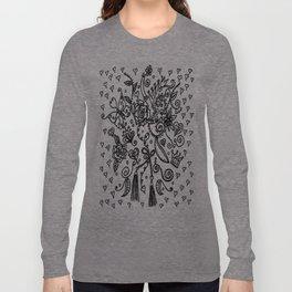 Lace Pattern Long Sleeve T-shirt
