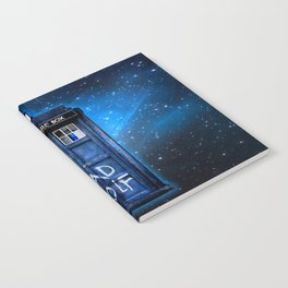 Phone box doctor with Bad wolf graffiti Notebook