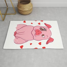 Adorable I Just Love Pigs, OK? Baby Pig Lover Rug