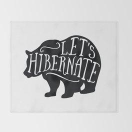 Let's Hibernate Throw Blanket