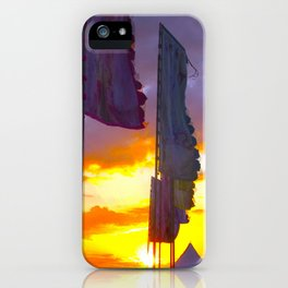 LINDISFARNE MUSIC FESTIVAL Flags In Sunset iPhone Case