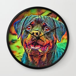 AnimalColor_Dog_004_by_JAMColors Wall Clock