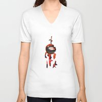 knight V-neck T-shirts featuring Knight by Sascha Rinaldi