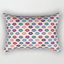Retro Lips Pattern Rectangular Pillow